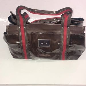 Tommy Hilfiger Brown Shoulder Bag Purse 8 Pocket